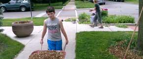 Volunteer garden workday in the parks