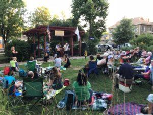 band playing at Manor Park